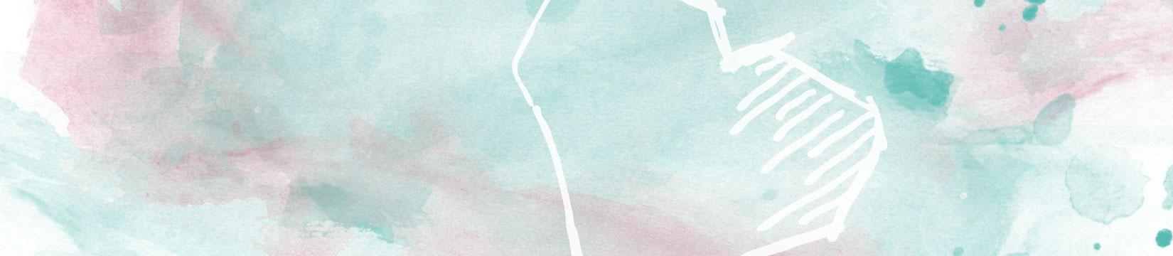 Herz auf Wasserfarben Hintergrund
